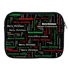 Merry Christmas Typography Art Apple Ipad Zippered Sleeve by StuffOrSomething
