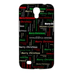 Merry Christmas Typography Art Samsung Galaxy Mega 6 3  I9200 Hardshell Case