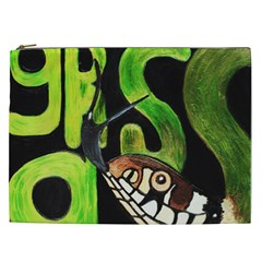 Grass Snake Cosmetic Bag (xxl)