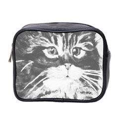 Kitten Mini Travel Toiletry Bag (two Sides) by JUNEIPER07