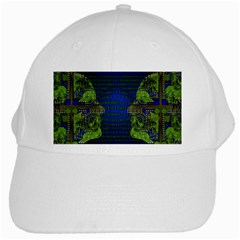 Binary Communication White Baseball Cap