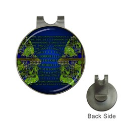 Binary Communication Hat Clip With Golf Ball Marker