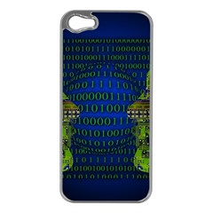 Binary Communication Apple Iphone 5 Case (silver)