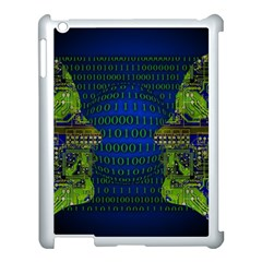 Binary Communication Apple Ipad 3/4 Case (white) by StuffOrSomething
