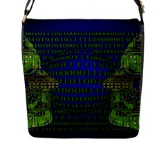 Binary Communication Flap Closure Messenger Bag (large)
