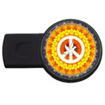 Psychedelic Peace Dove Mandala 2GB USB Flash Drive (Round) Front