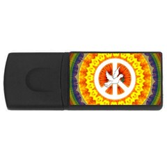 Psychedelic Peace Dove Mandala 4gb Usb Flash Drive (rectangle)