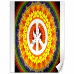 Psychedelic Peace Dove Mandala Canvas 36  X 48  (unframed) by StuffOrSomething