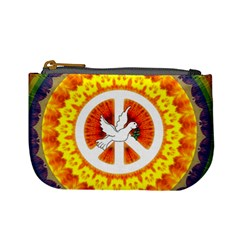 Psychedelic Peace Dove Mandala Coin Change Purse by StuffOrSomething