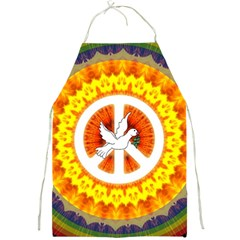 Psychedelic Peace Dove Mandala Apron by StuffOrSomething