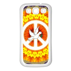 Psychedelic Peace Dove Mandala Samsung Galaxy S3 Back Case (white) by StuffOrSomething