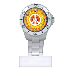 Psychedelic Peace Dove Mandala Nurses Watch