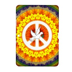 Psychedelic Peace Dove Mandala Samsung Galaxy Tab 2 (10 1 ) P5100 Hardshell Case  by StuffOrSomething