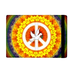 Psychedelic Peace Dove Mandala Apple Ipad Mini 2 Flip Case by StuffOrSomething