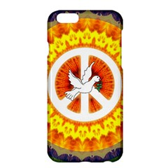 Psychedelic Peace Dove Mandala Apple Iphone 6 Plus Hardshell Case