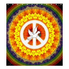 Psychedelic Peace Dove Mandala Shower Curtain 66  X 72  (large) by StuffOrSomething