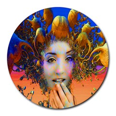 Organic Medusa 8  Mouse Pad (round) by icarusismartdesigns
