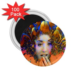 Organic Medusa 2 25  Button Magnet (100 Pack) by icarusismartdesigns