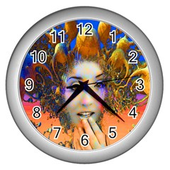 Organic Medusa Wall Clock (silver) by icarusismartdesigns