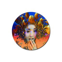 Organic Medusa Drink Coasters 4 Pack (round) by icarusismartdesigns