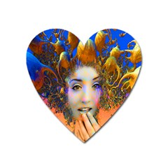 Organic Medusa Magnet (heart) by icarusismartdesigns