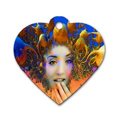 Organic Medusa Dog Tag Heart (two Sided) by icarusismartdesigns
