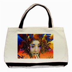 Organic Medusa Twin-sided Black Tote Bag by icarusismartdesigns