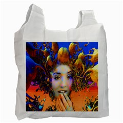 Organic Medusa White Reusable Bag (two Sides) by icarusismartdesigns