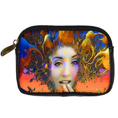 Organic Medusa Digital Camera Leather Case by icarusismartdesigns