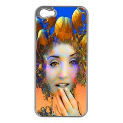 Organic Medusa Apple Iphone 5 Case (silver) by icarusismartdesigns