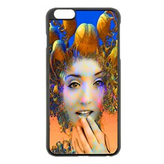 Organic Medusa Apple Iphone 6 Plus Black Enamel Case by icarusismartdesigns