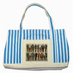 5 Tribes, Blue Striped Tote Bag