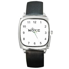 Moxie Logo Square Leather Watch
