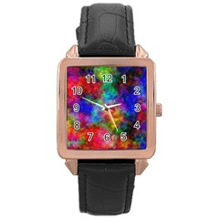 Plasma 27 Rose Gold Leather Watch  by BestCustomGiftsForYou
