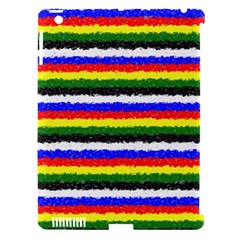 Horizontal Basic Colors Curly Stripes Apple Ipad 3/4 Hardshell Case (compatible With Smart Cover) by BestCustomGiftsForYou