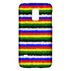 Horizontal Basic Colors Curly Stripes Samsung Galaxy S5 Mini Hardshell Case  by BestCustomGiftsForYou