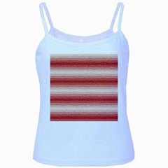Horizontal Red Curly Stripes Baby Blue Spaghetti Tank by BestCustomGiftsForYou