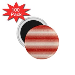 Horizontal Red Curly Stripes 1 75  Button Magnet (100 Pack) by BestCustomGiftsForYou