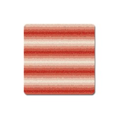 Horizontal Red Curly Stripes Magnet (square) by BestCustomGiftsForYou