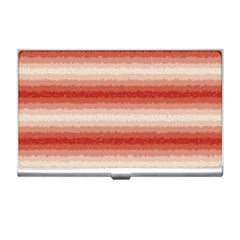 Horizontal Red Curly Stripes Business Card Holder