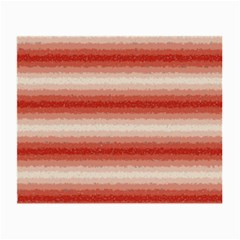 Horizontal Red Curly Stripes Glasses Cloth (small) by BestCustomGiftsForYou