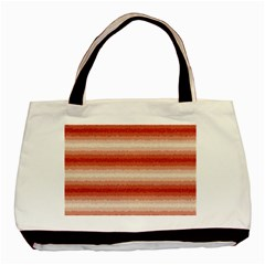 Horizontal Red Curly Stripes Classic Tote Bag by BestCustomGiftsForYou