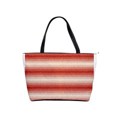 Horizontal Red Curly Stripes Large Shoulder Bag by BestCustomGiftsForYou