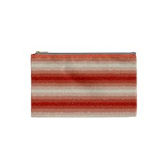 Horizontal Red Curly Stripes Cosmetic Bag (small) by BestCustomGiftsForYou