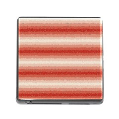 Horizontal Red Curly Stripes Memory Card Reader With Storage (square) by BestCustomGiftsForYou