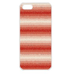 Horizontal Red Curly Stripes Apple Iphone 5 Seamless Case (white) by BestCustomGiftsForYou