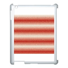 Horizontal Red Curly Stripes Apple Ipad 3/4 Case (white) by BestCustomGiftsForYou