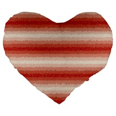 Horizontal Red Curly Stripes 19  Premium Heart Shape Cushion by BestCustomGiftsForYou