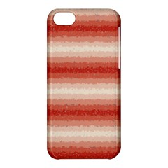 Horizontal Red Curly Stripes Apple Iphone 5c Hardshell Case by BestCustomGiftsForYou