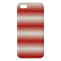 Horizontal Red Curly Stripes Iphone 5s Premium Hardshell Case by BestCustomGiftsForYou